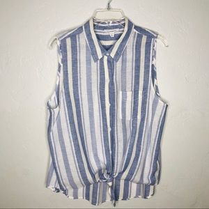 Beach Lunch Lounge | Front Tie stripped top